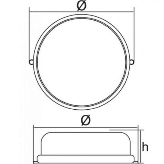 Lampa de exterior rotunda cu grila 100W 1/2 Alb/Negru Total Green