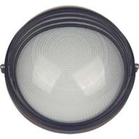 Lampa de exterior rotunda cu grila 60W 1/2 Alb/Negru Total Green