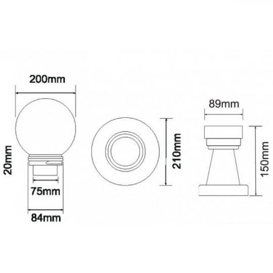 Lampa de gradina Green Auriu 1xE27, 40W, 35 cm
