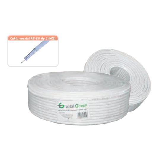 Cablu coaxial RG-6U Total Green HQ 100 ml