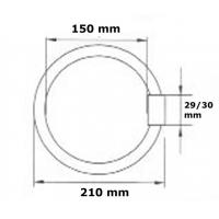 Tub neon circular 22W, lumina rece T9