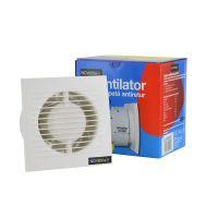 Ventilator de baie 100/120 cu clapeta antiretur Novelite, cu timer