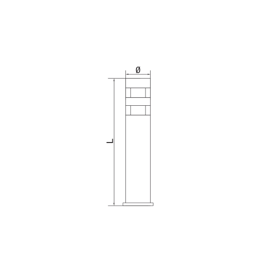Lampa de gradina T&G CORVIN 50 LED 24x0.1W, 50 cm