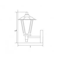 Lampa de gradina T&G CONAN 1xE27, 60W, 33 cm