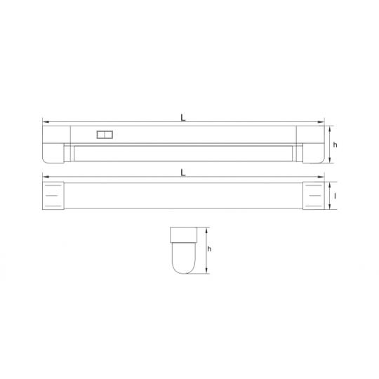 Corp neon 1x28W T&G VELDI TG-3113.07