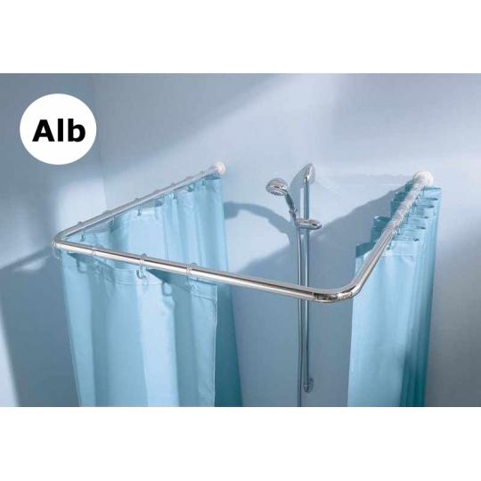 Bara perdea Aluminiu dreptunghiulara 80x80x80 cm, Alb