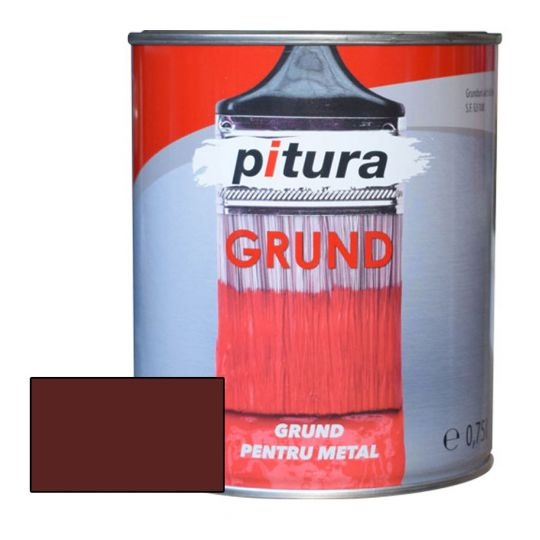 Grund alchidic Pitura rosu oxid 4 l Kober