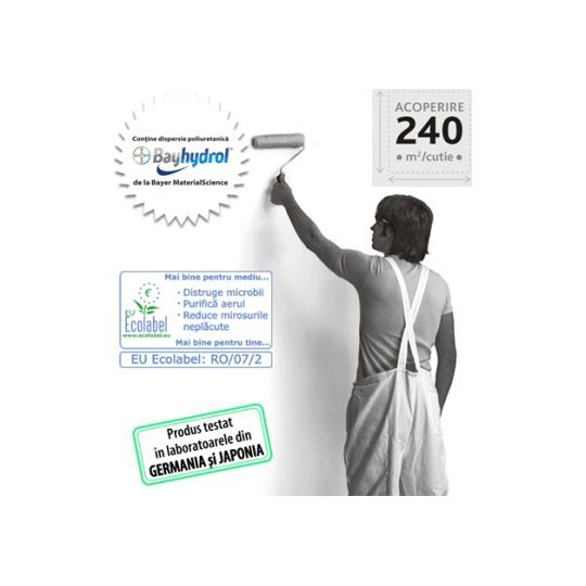 Vopsea superlavabila impotriva microbilor Zertifikat Plus 8.5 l Kober