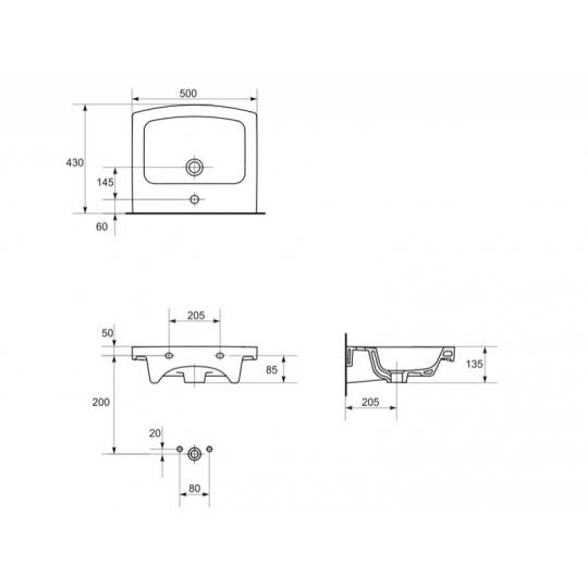Lavoar Easy 50 cm, strat Clean Pro Cersanit