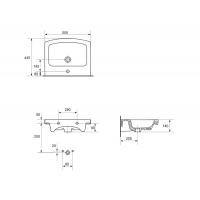 Lavoar Easy 55 cm, strat Clean Pro Cersanit
