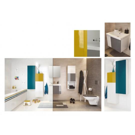 Dulap cu oglinda alb Cersanit Easy/Colour