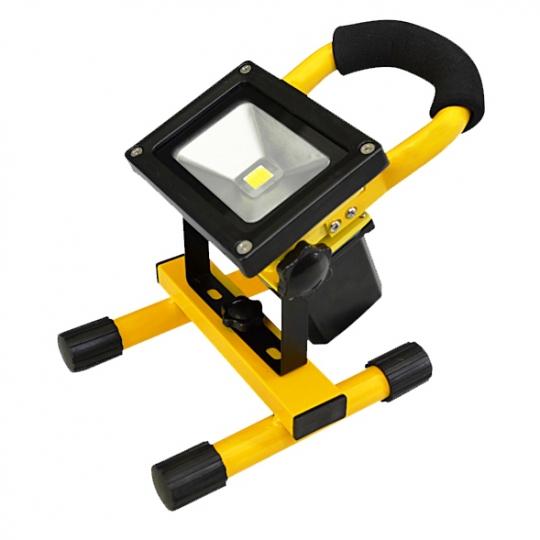 Proiector LED portabil cu acumulator 10W Total Green