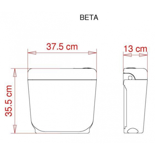 Rezervor WC Beta Visam semi-inaltime Start/Stop