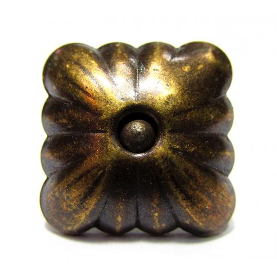 Cuie tapiterie decorative Patrat Flower Auriu D20x19-100 buc