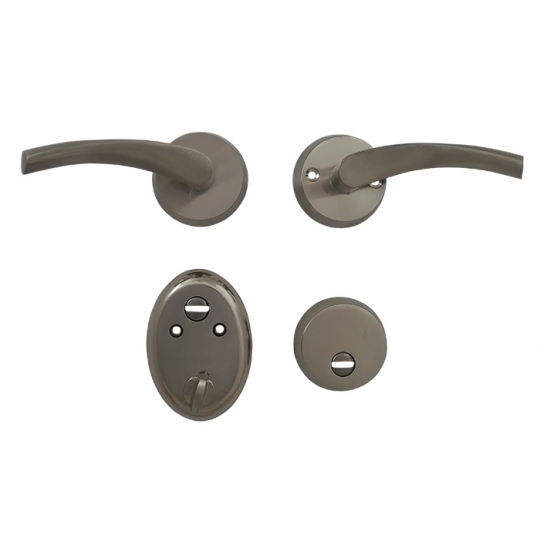 Set manere usa metalica, 2 piese, profil rotund M08