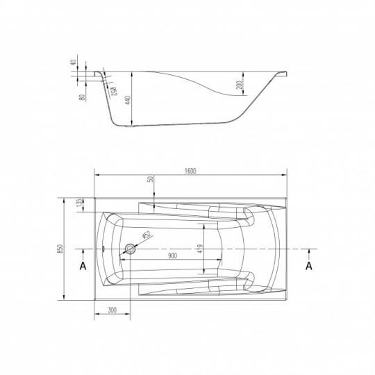 Cada de baie Cersanit Zen 160x85 cm + set picioare inclus