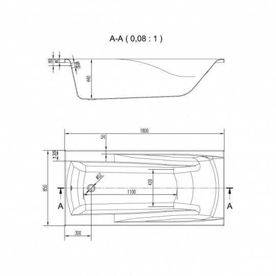 Cada de baie Cersanit Zen 180x85 cm + set picioare inclus