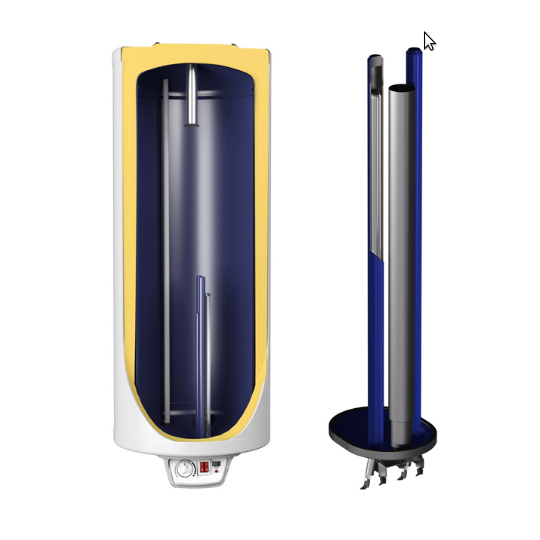 Boiler electric Eldom 120 l Eureka, rezistenta 2x1000W, izolatie 32 mm, anticalcar