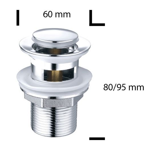 Ventil automat 1 1/4 Zamak B1002, dop mic
