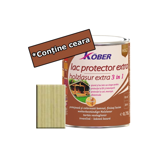 Lac protector Extra 3 in 1 incolor 2,5 l Kober