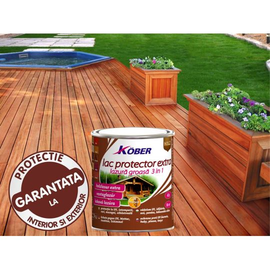 Lac protector Extra 3 in 1 teak 0,75 l Kober