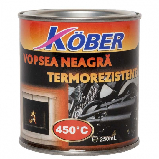 Vopsea termorezistenta 450 C Kober 200 ml Negru