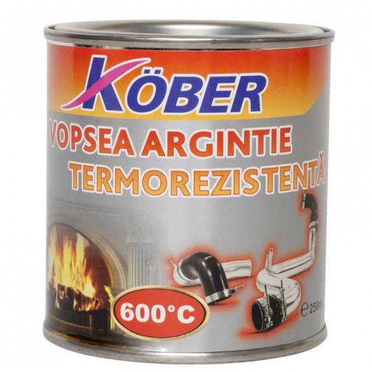 Vopsea termorezistenta 600 C Kober 200 ml Argintiu