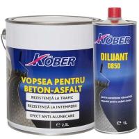 Vopsea pentru beton sau asfalt Kober 2.5 l Rosu