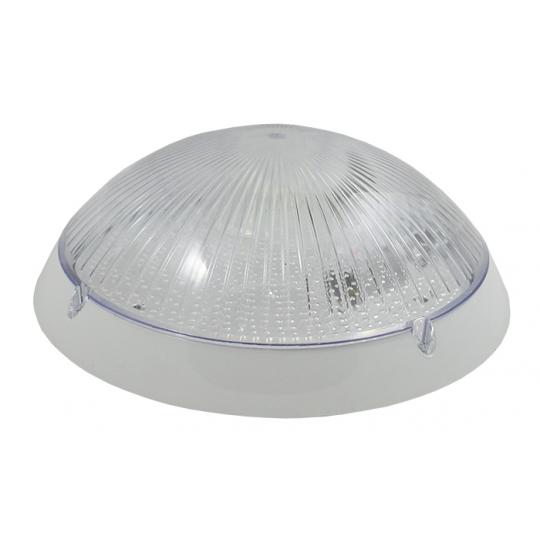 Plafoniera IP65, 1xE27, max 100W Nem Oval Alb Transparent