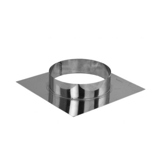 Talpa inox 20.5x20.5 cm, pentru terminal D125 mm