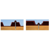 Cutie autoforante vopsite pentru tabla cu saiba cauciuc 4.8x35 - 250 buc RAL8017