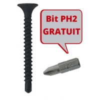 Surub autoforant pentru gips carton 3,5x25 -16000 buc + Bit PH2