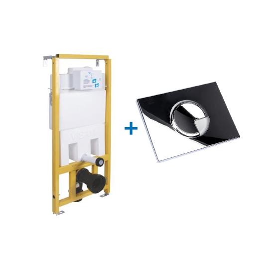 Rezervor incastrat Slim 80 Visam + Clapeta Duo Didim Cromat