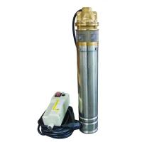 Pompa submersibila Nowe 4SKM-100, 750W, inaltime 61 m, 6 bar, tablou comanda