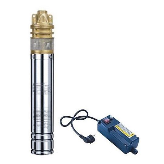 Pompa submersibila Nowe 3SKM-75, 550W, inaltime 35 m, 3.4 bar, tablou comanda