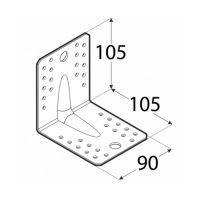Coltar perforat 90 grade Tip 4n- 105x105x90x2.5 mm Everpro