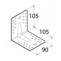 Coltar perforat 90 grade Tip 4n, tip usor- 105x105x90x2.0 mm Everpro