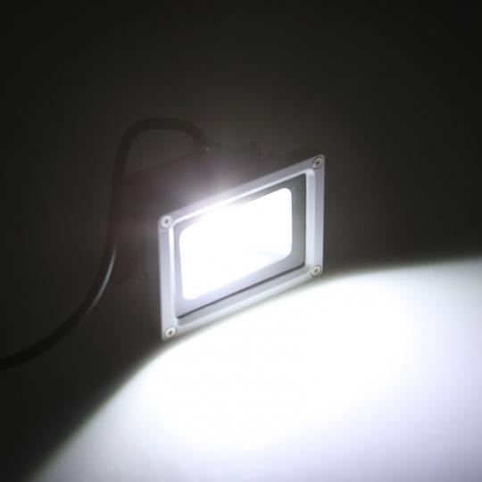 Proiector LED SLIM 20W cu senzor lumina rece Novelite