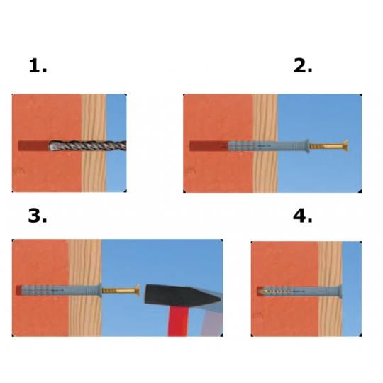 Diblu cui prin lovire SM 6x80- 100 buc