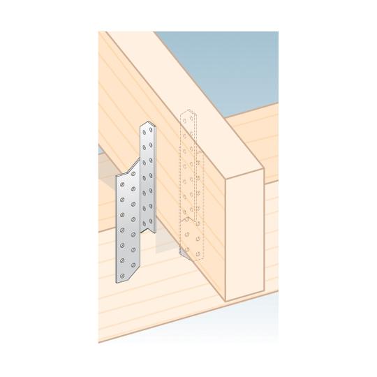 Coltar imbinare grinzi 170x32x2 mm Stanga/Dreapta