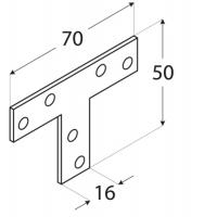 Conector imbinare T -70x50x16x2 mm