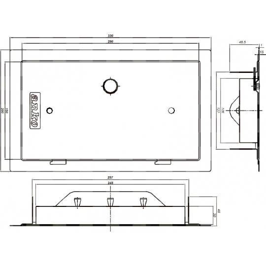 Usa pentru cos fum 260x130 mm