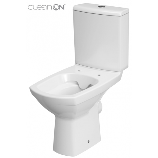 Vas WC compact alimentare laterala Carina Clean On Cersanit (capac duroplast inclus)