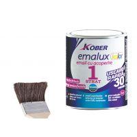 Vopsea superlucioasa, uscare rapida , 1 strat Emalux Kolor Alb RAL9016, 0.75 l Kober
