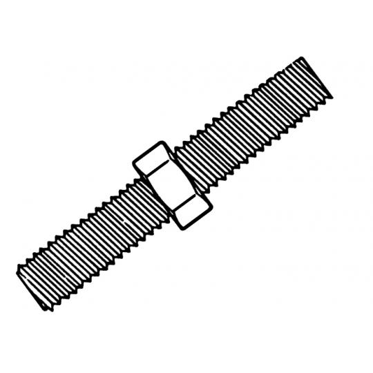 Tija filetata M5 1 m- DIN 975-4.8 ZA - 100 buc