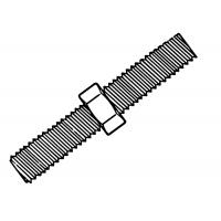 Tija filetata M8 1 m- DIN 975-4.8 ZA - 50 buc