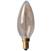 Bec decorativ Vintage Edison Edition 40W, E14, tip lumanare C35 Total Green