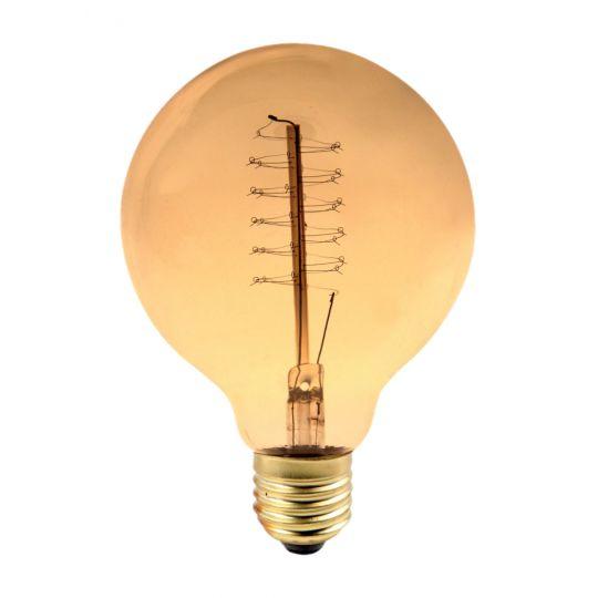 Bec decorativ Vintage Edison Edition 60W, E27, tip glob G95 Total Green