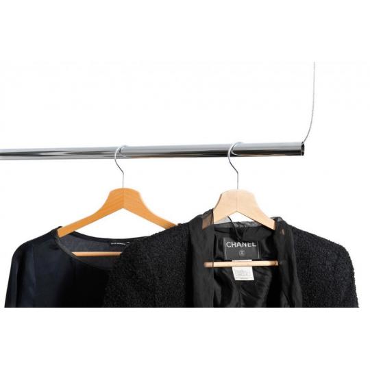 Tub cromat circular pentru haine 16x0.8 mm, lungime 1 m