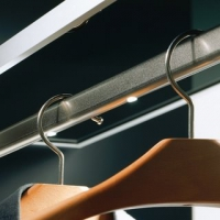 Tub cromat oval pentru haine 30x15 mm, lungime 1.2 m